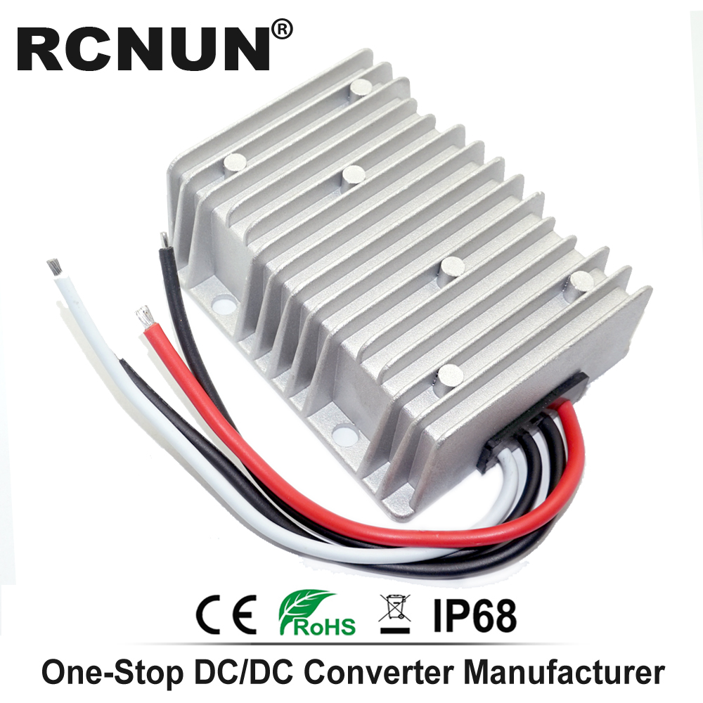 Image 2 - 36V 48V to 12V 13.8V 5A 10A 15A 20A 25A 30A Step Down DC DC Converter Golf Cart Voltage Reducer High Quality RCNUN CE RoHS-in Inverters & Converters from Home Improvement
