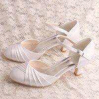 21 kleuren Womens Kleine Maten Schoenen Witte Bruid Schoenen Lage Hak