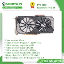 Maxsun GeForce GTX1650 Terminator 4G Graphics Card Nvidia GDDR6 128bit GPU Video Gaming Video Card For PC Computer HDMI DP DVI
