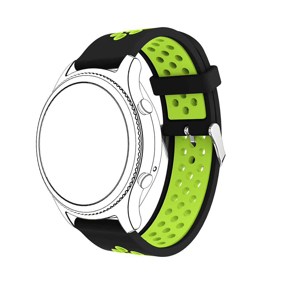 New Silicone Wristband For Samsung Galaxy 46mm Watch Bracelet Adjustable Replacement For Samsung Gear S3 Watch Band Watch Strap in Watchbands from Watches