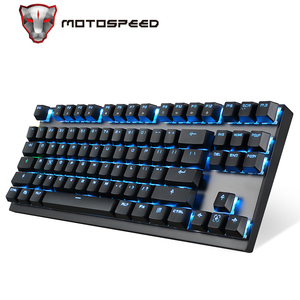 Image 1 - Motospeed GK82 type c 2.4G bezprzewodowa/przewodowa mechaniczna klawiatura do gier 87Key czerwony przełącznik akumulatorowa lampa LED podświetlenie na PC Laptop