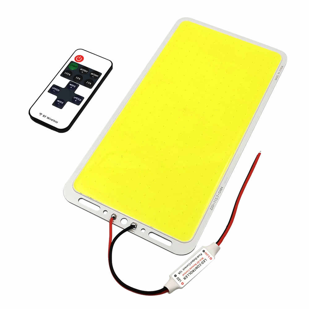 Ultra Helle Dimmbare 100W 12V LED COB Panel Licht mit Dimmer LED Lampe Matrix Board für Außen Beleuchtung camping Lampe Auto Lampe