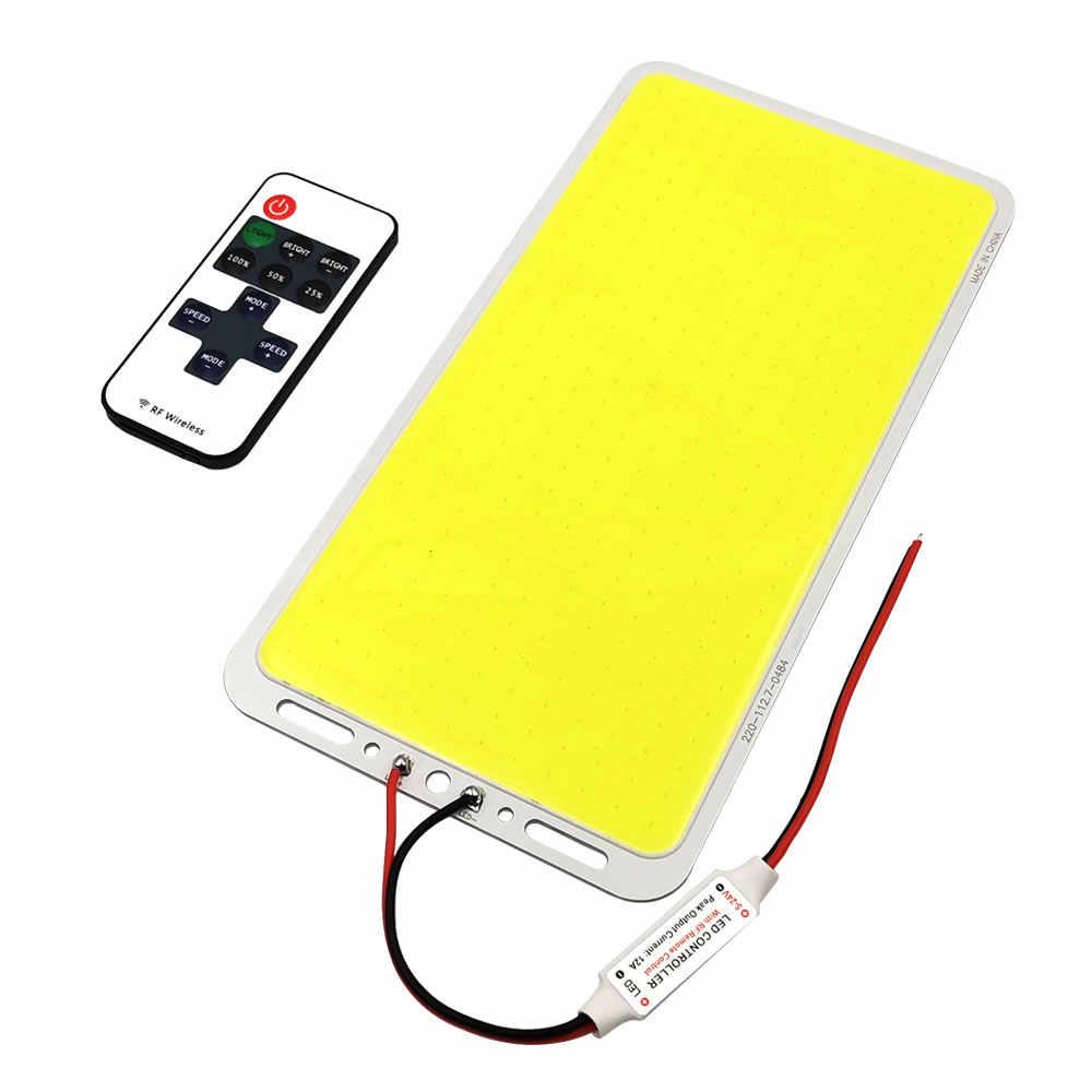 Ultra jasny ściemnialny Panel oświetleniowy 100W 12V LED COB ze ściemniaczem lampa LED Matrix Board do oświetlenia zewnętrznego lampa kempingowa żarówka samochodowa