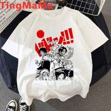 Kawaii uma peça de camisetas gráficas mulheres verão topos ulzzang bonito dos desenhos animados camiseta anime japonês engraçado luffy zoro t camisa feminina
