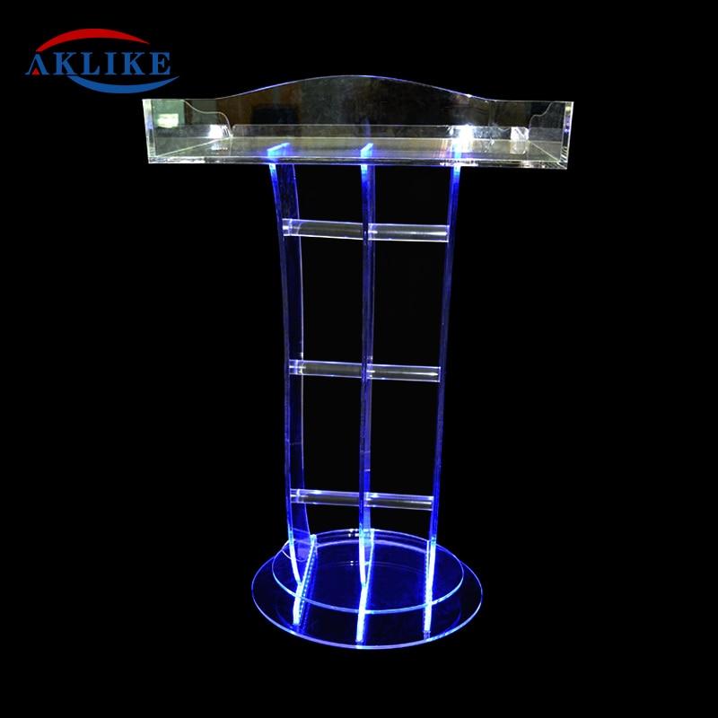 Spider folding lectern acryl glass clear