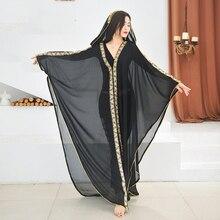 Belly-Dance-Costume Stage-Wear Tribal Oriental Khaleegy Skirt Long-Robe Perforamce Women