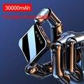30000 mah mini banco de potência portátil tela cheia display digital powerbank carregamento rápido bateria externa para iphone xiaomi samsung