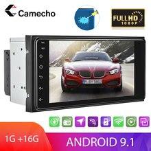 Camecho 2Din Android 9,1 автомобильный радиоприемник 7 ''сенсорный экран автомобильный MP5-плеер GPS Mirror Link FM-радио камера заднего вида для Toyota Corolla