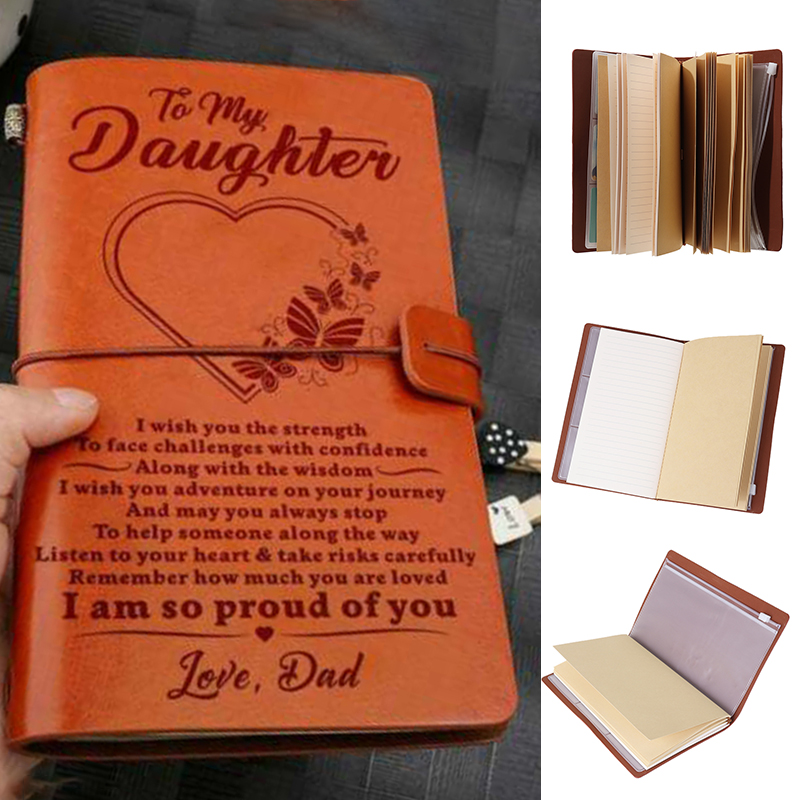 1pc Vintage A6 Brown Craft Paper Notebook