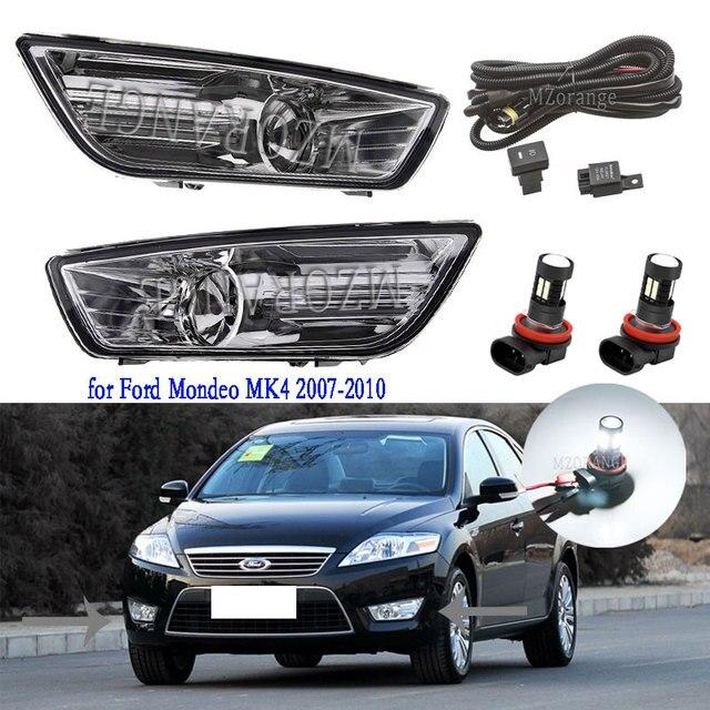 ไฟตัดหมอกสำหรับ Ford Mondeo MK4 2007 2008 2009 2010ไฟ LED Anti Fog Light สำหรับ Ford Fusion หมอกไฟส่องสว่างหมอกโคมไฟ