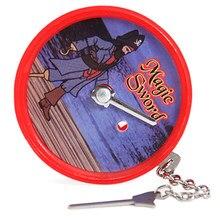 1 pçs magia espada truques de magia estágio close-up magia diversão ilusão psicológica manequim adereços aparecem desaparecendo brinquedos