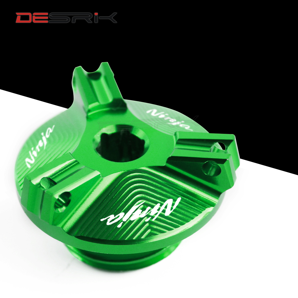 For Kawasaki <font><b>NINJA</b></font> <font><b>400</b></font> <font><b>NINJA</b></font> 1000 650R CNC Aluminum Motorcycle Engine <font><b>Oil</b></font> Drain Plug Cover 6 COLORS For Option image