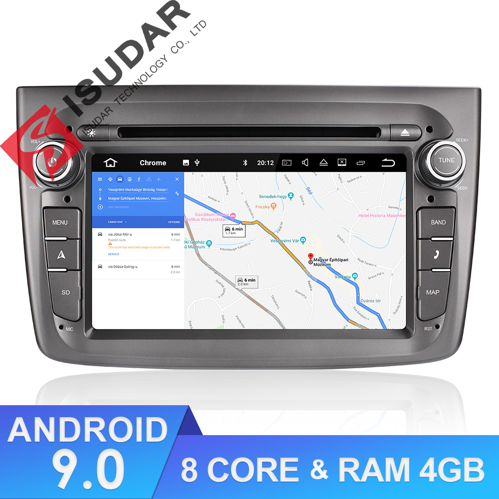 Isudar 1 Din Auto Radio Android 9 For Alfa Romeo Mito 2008- Octa Core RAM 4G ROM 64G Car Multimedia Video DVD Player GPS USB DVR image