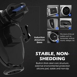 Image 4 - 15ワット無線車の充電器は、高速スマートセンサー電話ホルダーiphone xs自動クランプ車マウントチーワイヤレス充電器