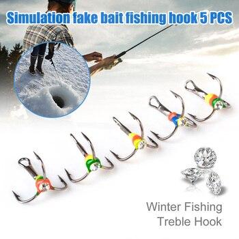 Best No.1 Fishing Hooks Winter Ice Fishing Three-jaw Hook Fishhooks cb5feb1b7314637725a2e7: Size 10 Size 12 Size 6 Size 8