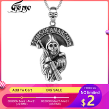 EyeYoYo Cosplay SONS OF ANARCHY Pendant Necklace Male Personalized Punk Skull Men's Domineering Necklace red black star sons of anarchy reaper bandeau side tie bikini