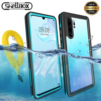 Shellbox Waterproof Phone Case For Huawei P30 Pro P40 Lite Pro Mate 30 20 Pro Clear Silicone 360 Full Protector Underwater Cover