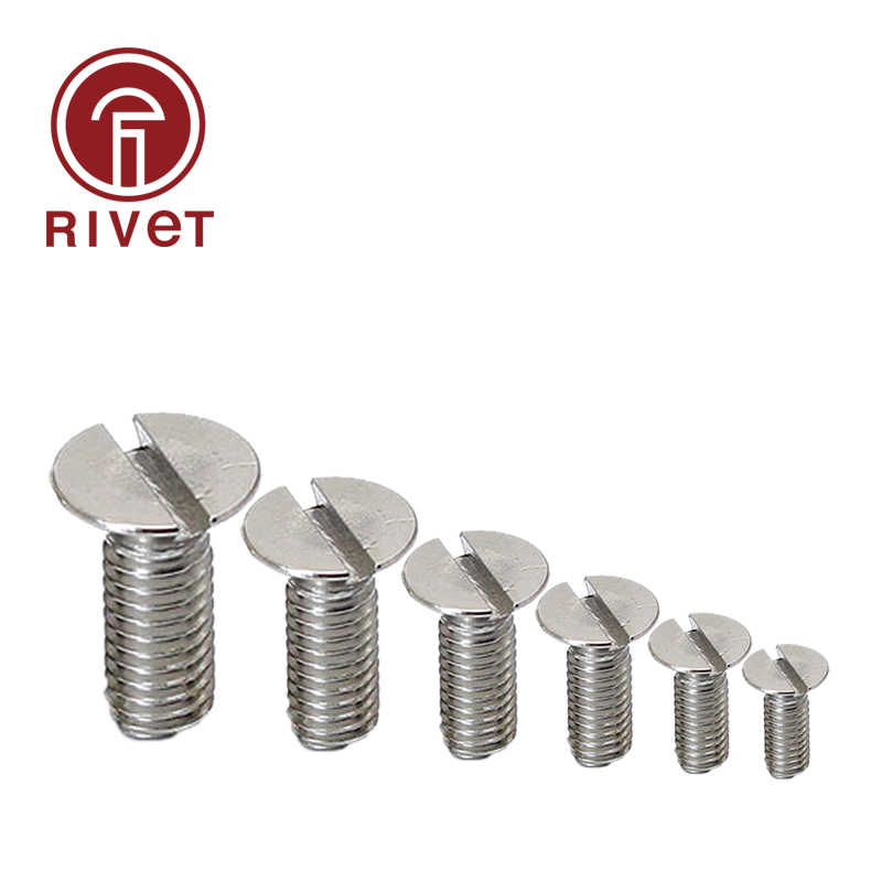 A2 Stainless Steel M2 M3 M4 Slotted Pan Head Machine Screws