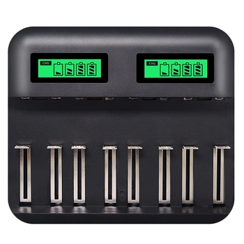 цена на 8 Slots Lcd Display Usb Smart Battery For Aa Aaa Sc C D Size Charger  Rechargeable Battery 1.2V Ni-Mh Ni-Cd Quick Charger