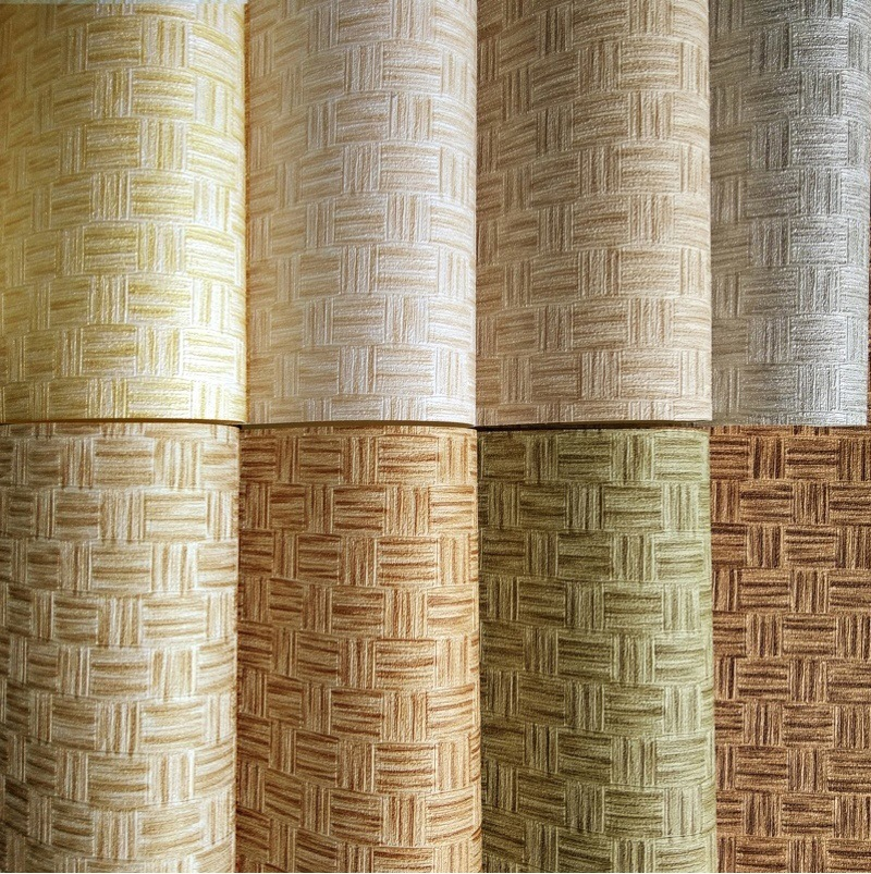Chinese Style Retro Imitation Bamboo Weaving Bamboo Mat Mats Wallpaper Japanese-style Hotel Restaurant Ceiling PVC Engineering W