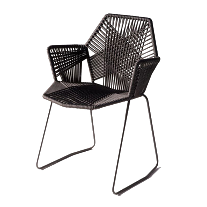 Single Chair Nordic Modern Minimalist Home Balcony Outdoor Patio Table And Chairs Leisure Wicker Chair Metal Chair