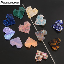 Fashion Heart Shape Resin Hair Clips For Women Hairpins Geometric Shiny Shell Hairgrip Ladies Girl Accessories Gift