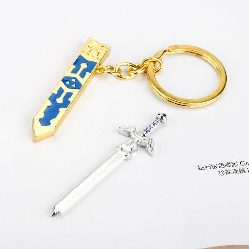 Oyunu Zelda Skyward kılıç kolye Zelda hiçbir densetsu silahı Cosplay anahtarlık Anime anahtar zincirleri hediyelik eşya
