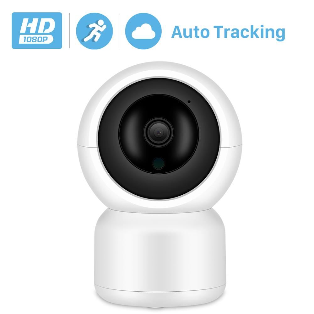 BESDER 1080P Human Auto Tracking IP Camera WiFi Cloud Storage Two Way Audio Indoor Home Security Camera WiFi With LAN Port ONVIF