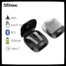 SDpure 2021New Waterproof Mini Bluetooth Headset Sport Ture Wireless Stereo TWS Earphone Noise Cancelling Earbuds For Phones