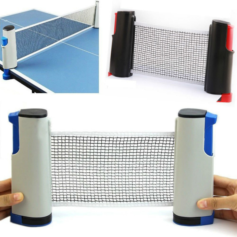 Portable Retractable Table Tennis Net Rack Replacement Ping-Pong Net Kit Grid Plastic Strong Mesh Net Rack Set For Indoor Sport