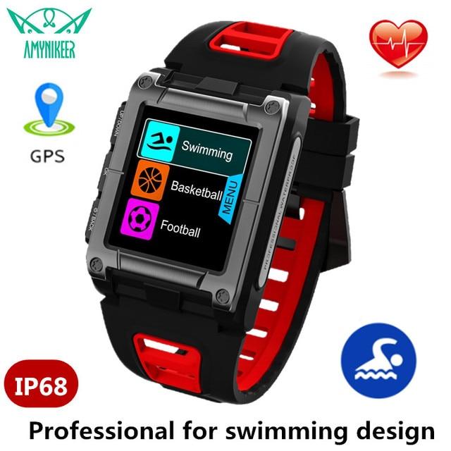 Amynikeer s929 relógio inteligente profissional natação ip68 design à prova dip68 água gps esportes ao ar livre smartwatch masculino rastreador de fitness
