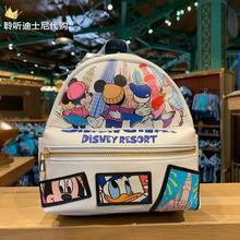 Authentic Shanghai Disney Domestic Shopping Mickey Minnie Donald Duck Big Shanghai Cartoon Print Cute Backpack Small Backpack