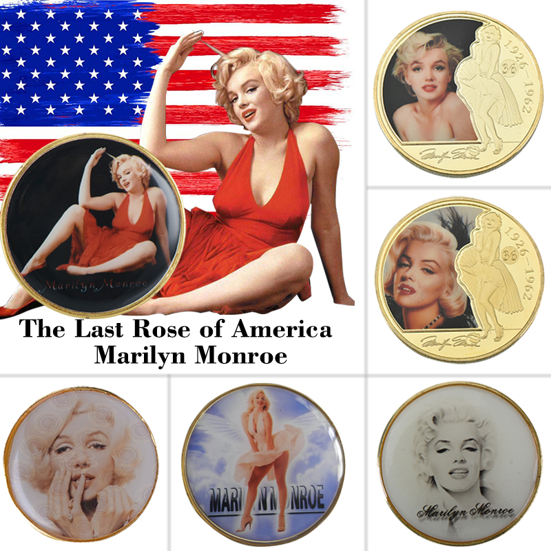 WR Hot Sale Made in China Best Tungsten Gold Coin Normal Gold Coin Marilyn Monroe home Collection image