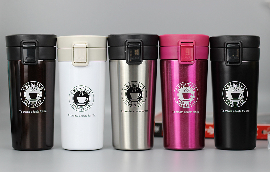 Hbef983a0d7be4f51b67447122df34289n HOT Premium Travel Coffee Mug Stainless Steel Thermos Tumbler Cups Vacuum Flask thermo Water Bottle Tea Mug Thermocup