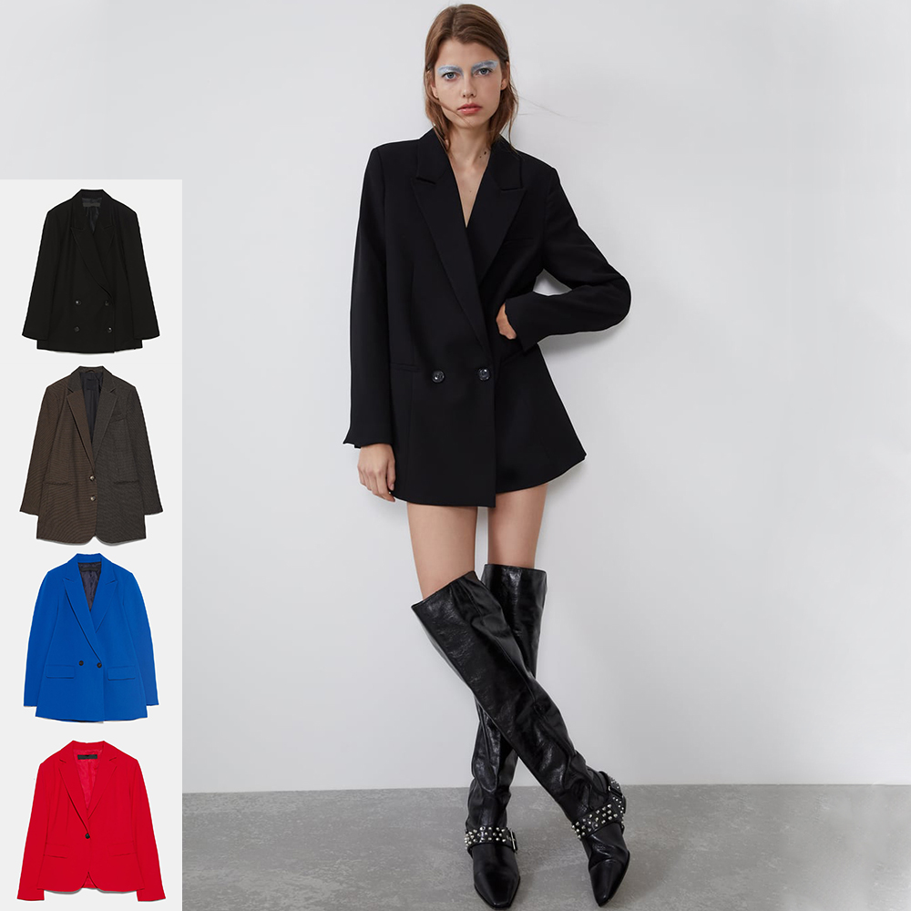 ZA 2019 Autumn New Variety Of Suit Jacket Fashion Europe America Women Clothes Double Breasted Coat Vacation Party Wholesale