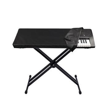 Przeciwkurzowe pianino elektroniczne etui klawiatura worek do przechowywania wodoodporna pokrywa pyłoszczelna trwały składany pokrowiec z materiału na 61 klawiszy fortepianu tanie i dobre opinie piano cover Nowoczesne