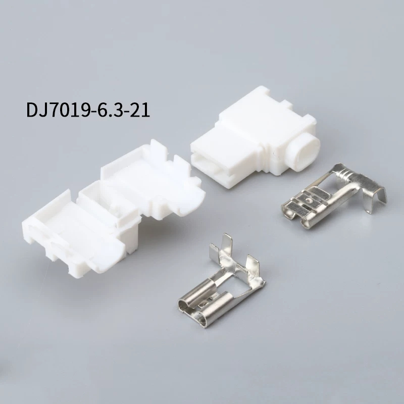 176497-1 Free shipping 500SETS DJ7019-6.3-21 6.3mm 1Pin AMP Car Electrical Wire Connectors for AUdi,VW,BMW, Honda,Toyota,Ford