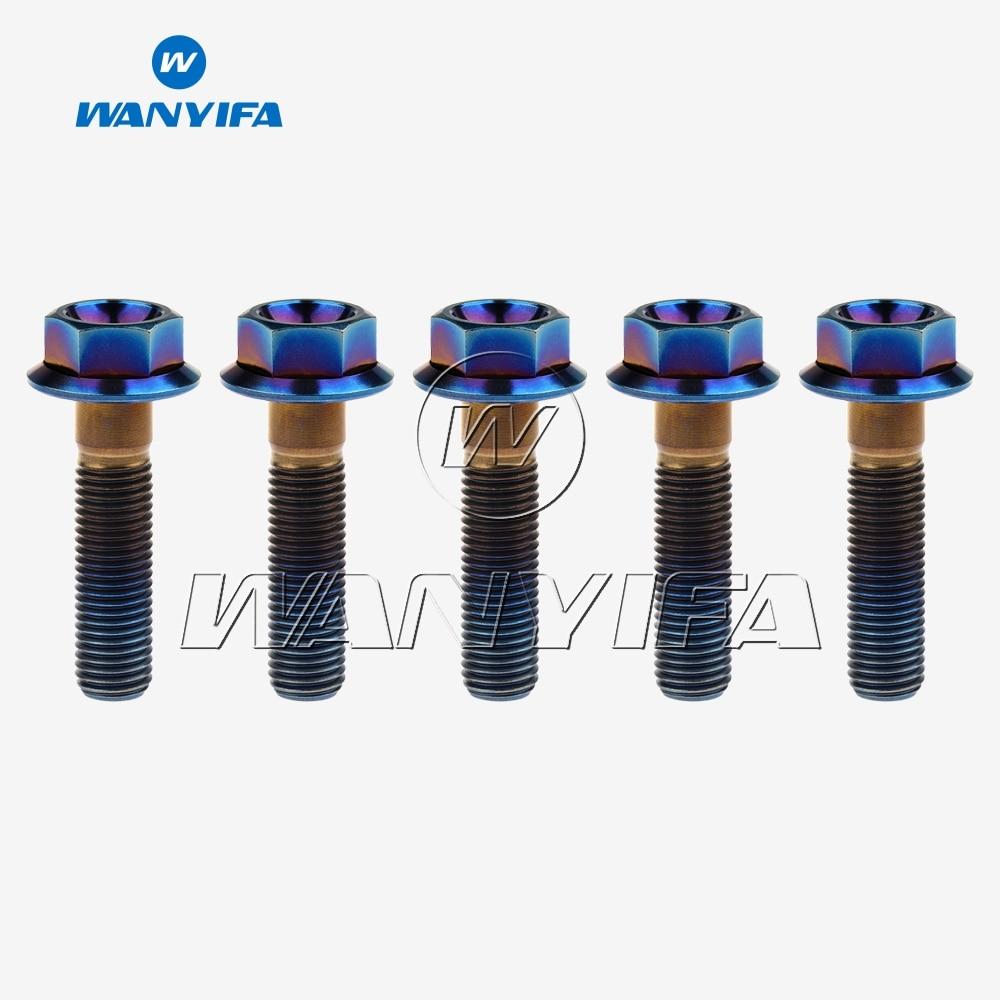 M10 x 20//25//30//35//40//45//50//55//60//65//70//75 Titanium Alloy Flange Bolts Screw
