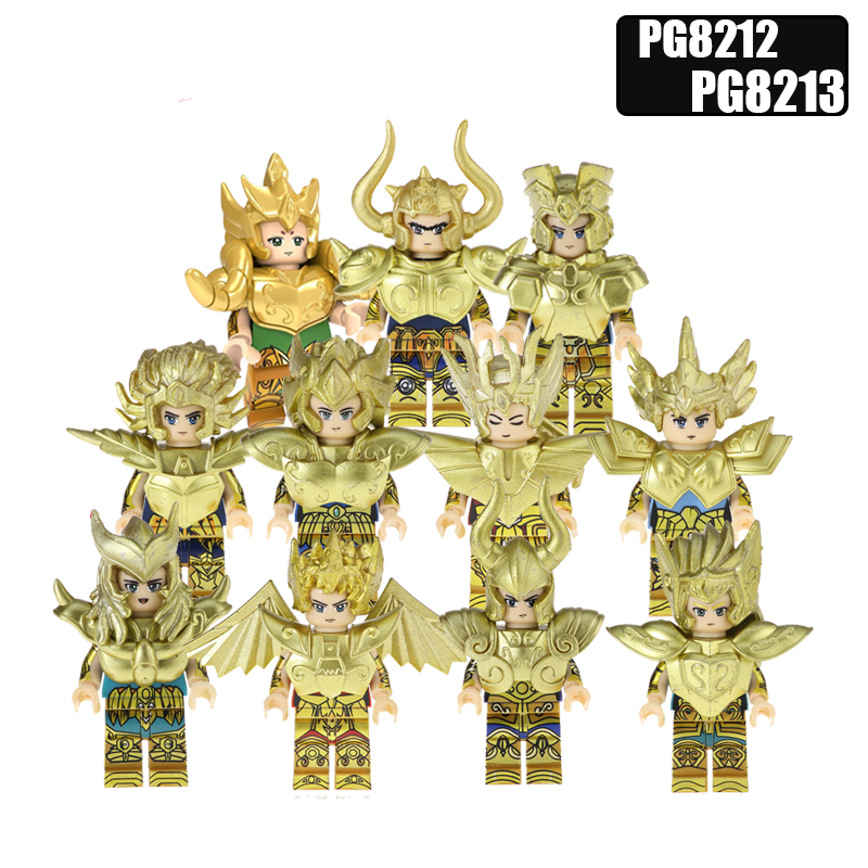 Figures Toy Twelve Constellation Saint Seiya Bricks Arrudiba Desmusk Baby Yoda Building Blocks Kids Toys PG8212 PG8213