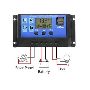 Image 2 - 20W 12V podwójne wyjście Panel słoneczny z ładowarką samochodową + 10/20/30/40/50A kontroler ładowarki słonecznej USB na zewnątrz Camping LED Light