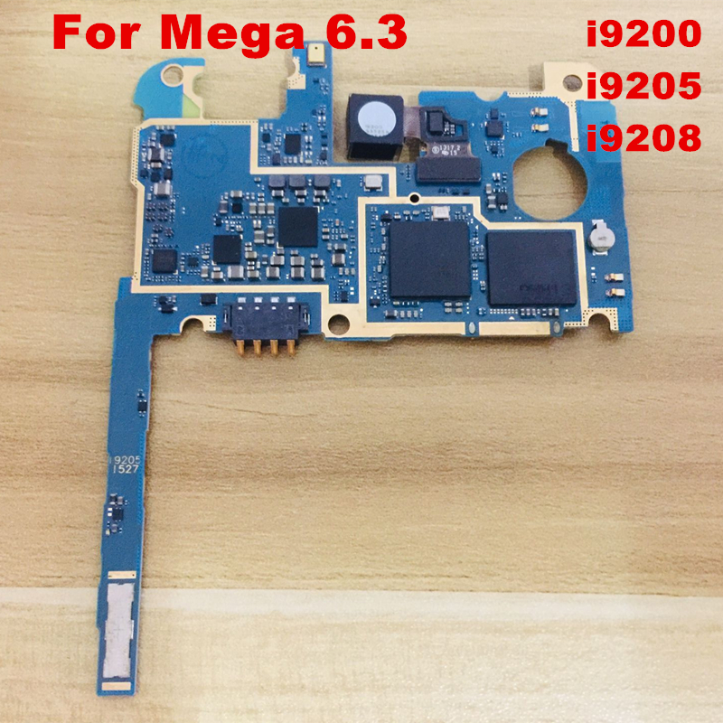 Unlocked Mainboard For Mega 6.3 i9200 I9205 I9208 Motherboard With Chips IMEI Logic Board