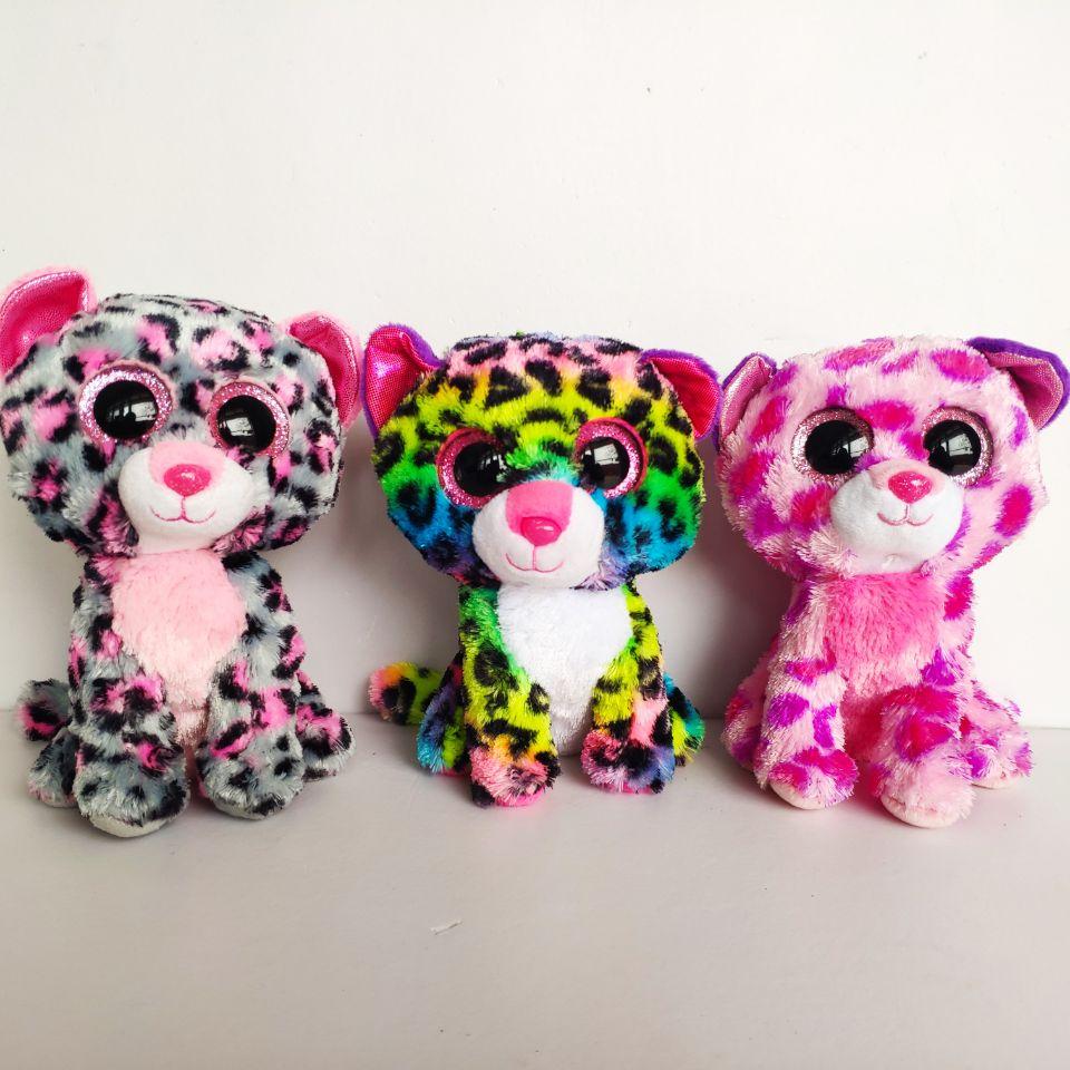 Dotty Glamour Patches Giselle  Leopard 15CM Big Eyes Plush Toys Stuffed Animals Christmas Gift Kids Soft Toys Gift Nano Dolls