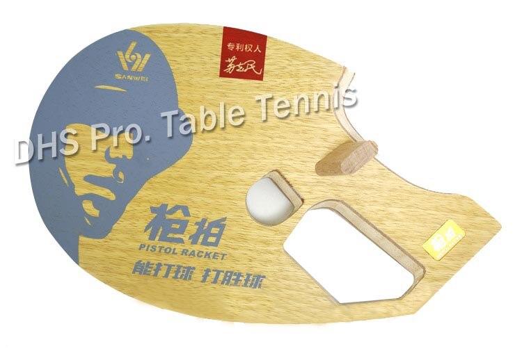 UPGRADE SANWEI 9th Generation Pistol 5 WOOD Table Tennis Blade/ Ping Pong Blade/ Table Tennis Bat Free Shipping
