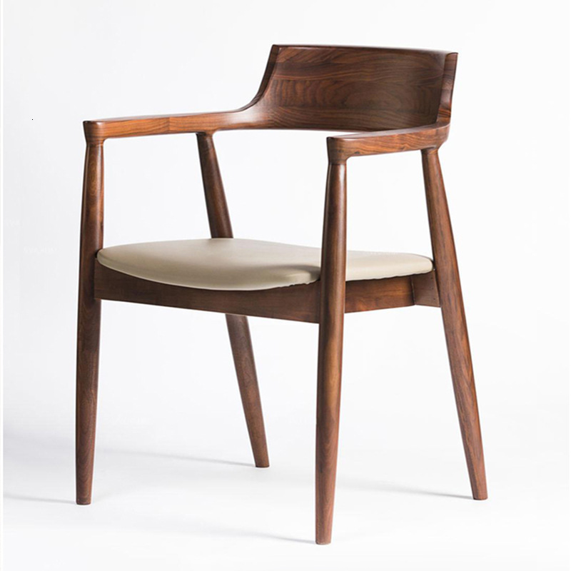 Dining Chair Modern Concise Desk Chair Household Restaurant Hotel Chair Computer Chair Ox Horn President Chair Northern Europe