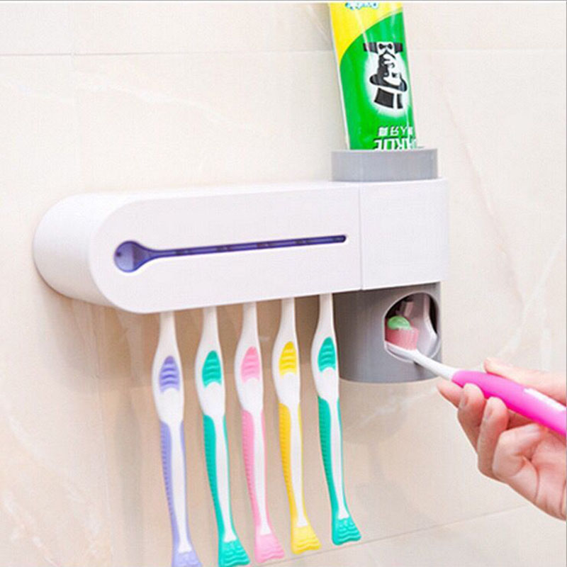 Toothbrush Holder Case Electric Toothbrush Sanitizer Cleaner Portable UV Light Toothbrush Sterilizer for Oral Health image