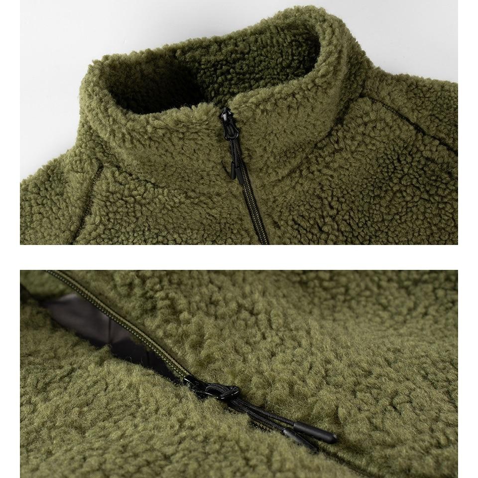 Image 5 - EU US Size Lamb Plush Men Jackets Antumn Winter Hoodie  Jacket  Coat Fashion Designer Outwear Hip Hop Mens Hoodies 2XLJackets   -