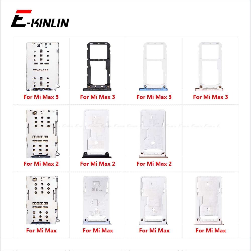 Micro SD Sim Card Tray Socket Slot Adapter Connector Reader For XiaoMi Mi Max 3 2 Container Holder Replacement Parts