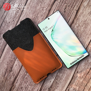 Image 2 - Saco de telefone, para samsung galaxy note10 plus 6.8 ultra fino artesanal lã sentiu capa de manga do telefone para galaxy note10 mais acessórios