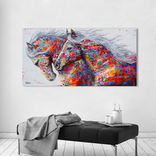 Canvas Pictures Horses Animal-Painting No-Frame Wall-Art Living-Room Home-Decor for The
