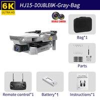 HJ15 Drohne FPV Ausgestattet Mit 6K HD Dual Kamera Fernbedienung Drone Quadcopter Halten Modus UAV Fliegen Spielzeug kinder Geschenke